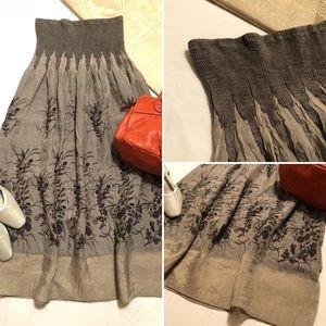 Lapis : Gray Convertible Strapless Dress / Skirt